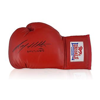 Ricky Hatton Signed Red Boxing Glove