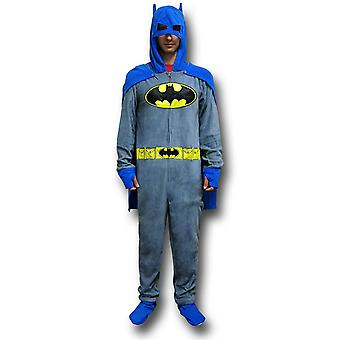 Batman Grey Union drakt pyjamas w/Cape og cowlen