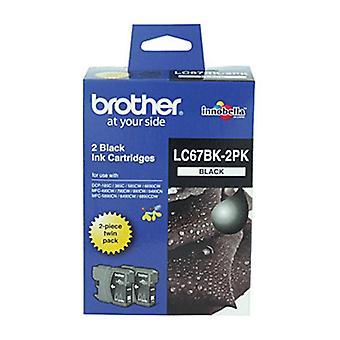 الأخ LC67 خرطوشة الحبر الأسود 450 صفحة - حزمة التوأم