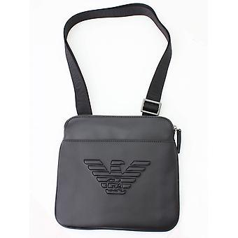 Emporio Armani Flat Crossbody Bag - Black