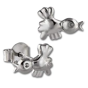 SilberDream for kids and teens-Silver Earrings Sterling 925 VSDO409