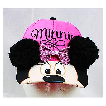 Baseball Cap - Disney - Minnie Mouse Soft Ear Deco (Youth/Kids) New MBS50761ST
