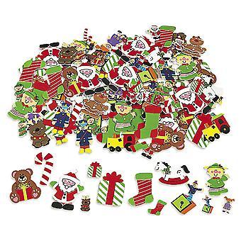 384 Деды Морозы семинар пены наклейки для детей рождественских ремесел