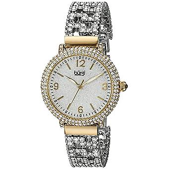 Burgi women's watch quartz BUR140YG with alloy band analog Display, multi colored