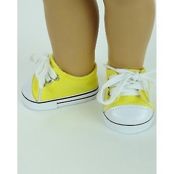"""18 """"docka kläder låg Top Sneakers, gul"""