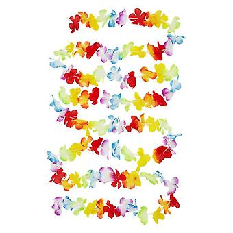 Veelkleurig Hawaiian Lei 300 cm Fancy Dress accessoire