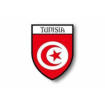 Sticker Sticker Car Moto Blason City Flag Tunisia Tunisia