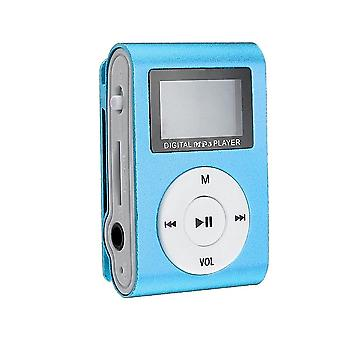 Compact MP3 player with microphone, blue