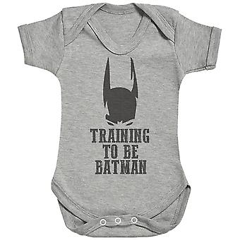 Training To Be Bat Man Mask - Baby Bodysuit