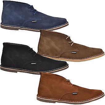 Lambretta Selecter Mens Smart Formal Suede Ankle Desert Boots Shoes