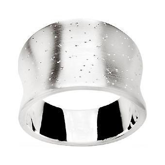 bastian inverun - diamond-plated silver ring - 20690 (19.1mm)