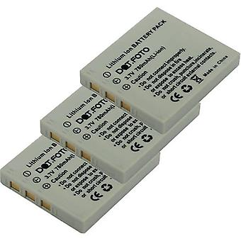 3 x Dot.Foto Rollei NP-40 bytesbatteri - 3.7V / 780mAh