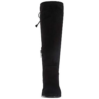 Aquatalia Women's Lisandra Suede Over The Over The Knee Boot, Black, 8 M US