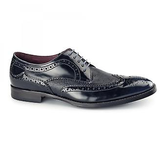Azor Paletta Mens Leather Derby Brogues Blue