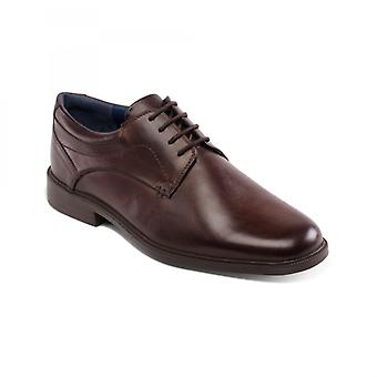 Padders Bank Mens Leather Wide (g Fit) Shoes Brown