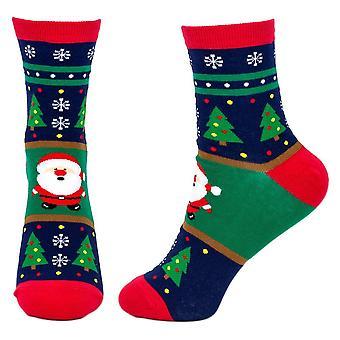 Women's Merry Christmas Santa Crew Socks