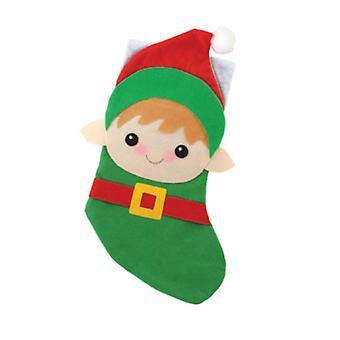 Vuoden ajat tervehdykset lapset Elf teemalla tuntui joulu sukat