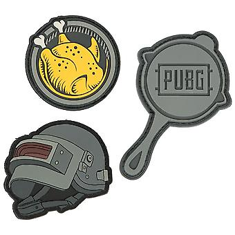 PUBG, rubber badges with Velcro straps