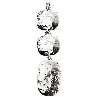 Beginnings Triple Drop Hammered Pendant - Silver