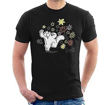 Simon's Cat Butterfly Floral Men's T-Shirt