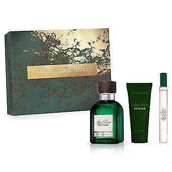 Men's Perfume Set Vetiver Adolfo Dominguez (3 pcs)