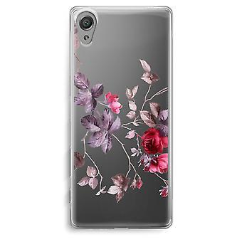 Sony Xperia XA Transparent Case - Pretty flowers