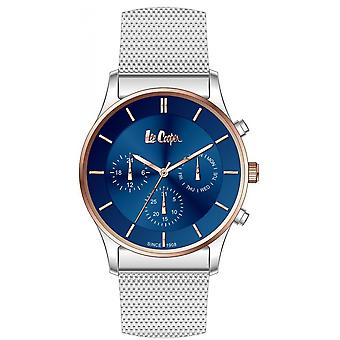 Shows Lee Cooper-LC06544-590 - chronograph steel Milanese money box Dor Rose dial Blue Man