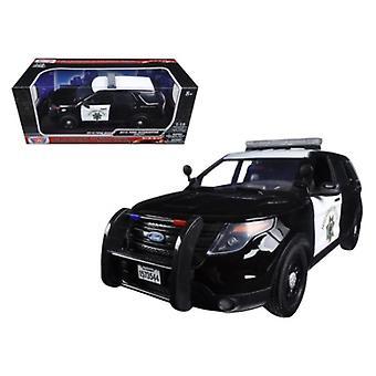 2015 Ford PI Utility Interceptor CHP California Highway Patrol 1/18 Diecast Model Car by Motormax