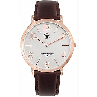 Watch Trendy Classic CG1033-03 - watch Leather Brown Bo tier e Dor pink man