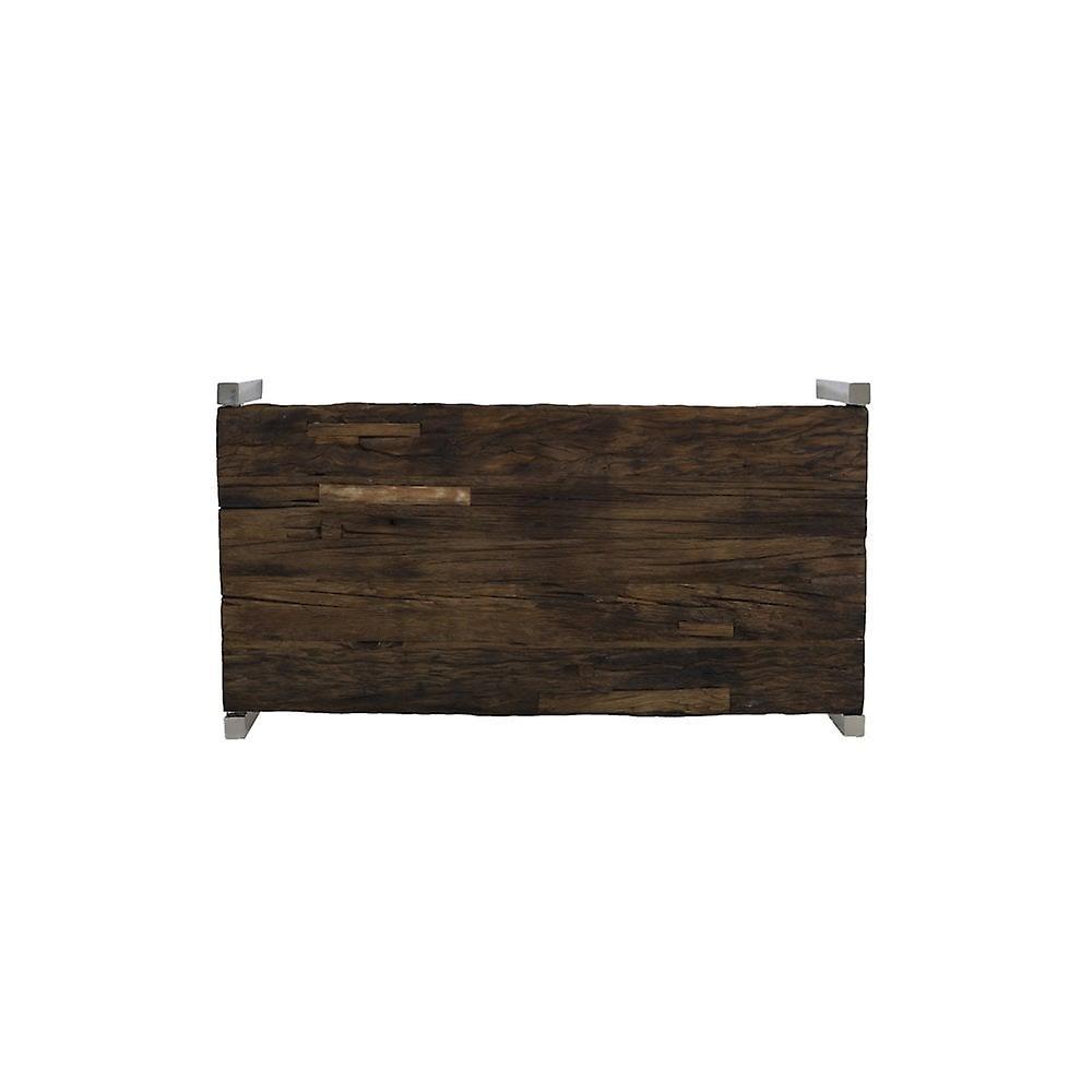 Table de café légère et vivante 120x68x40cm Sotos Wood-Nickel