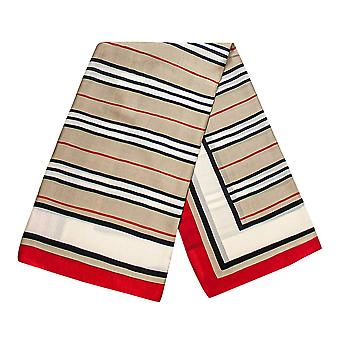 Striped scarf - Red, No. 31