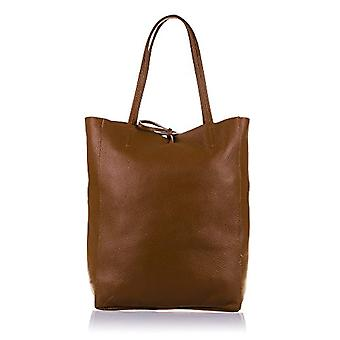 FIRENZE ARTEGIANI. Real leather lady shopping bag. Gneuino leather handbag ty tiger suave final touch of luxury. MADE IN ITALY. REAL ITALIAN SKIN. 27x37x13 5 cm. Color: Brown
