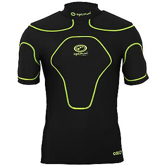 Optimum Origin Kids Rugby Body Protection Shoulder Pads Black/Fluro