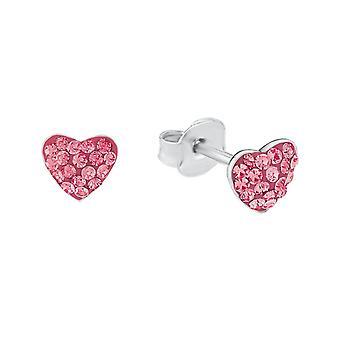 Prinsesse Lillifee børn øreringe stud øreringe sølv hjerte pink 2027911
