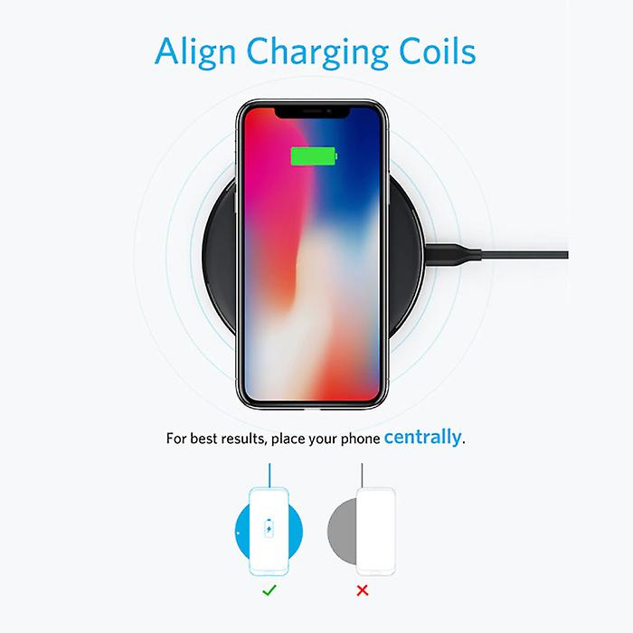 ANKER Powerwave 10W Qi Universal Wireless Charger Wireless Charging Pad