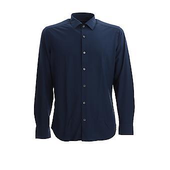 Corneliani 85p0780111470003 Men's Blue Nylon Shirt