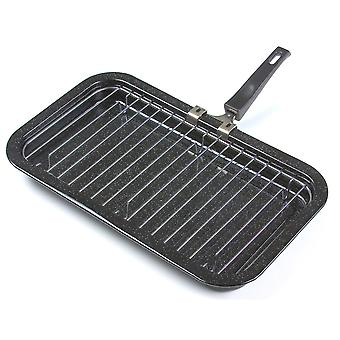 Vitreous Enamel Large Grill Pan and Rack, 35cm x 25cm