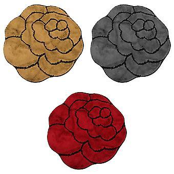 Non-Slip Striped Flower Shaped Area Mat/Rug (3 Colours)