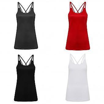 TriDri Lasergesneden Womens/dames Spaghetti Strap Vest