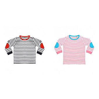 Larkwood Baby Boys Striped Long Sleeve T-Shirt