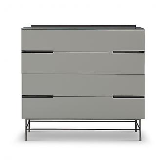 Gillmore Sleek - Contemporary Four Drawer Wide Chest With Various Colour Options