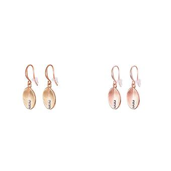 Fable Womens/Ladies Brushed Oval Earrings