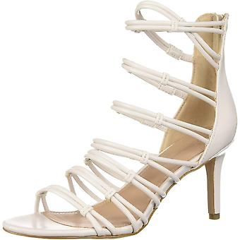 BCBG Generation Women's Maria Strappy Sandal Pump Chalk 9.5 M US