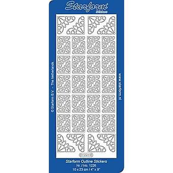 Starform Stickers Corners 11 (10 Sheets) - Silver - 1226.002 - 10X23CM