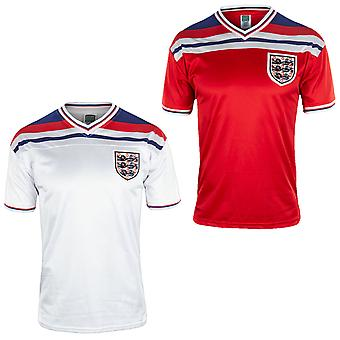 England Retro Football Shirt 1982 Mens Home & Away Kit with Player Name Printing