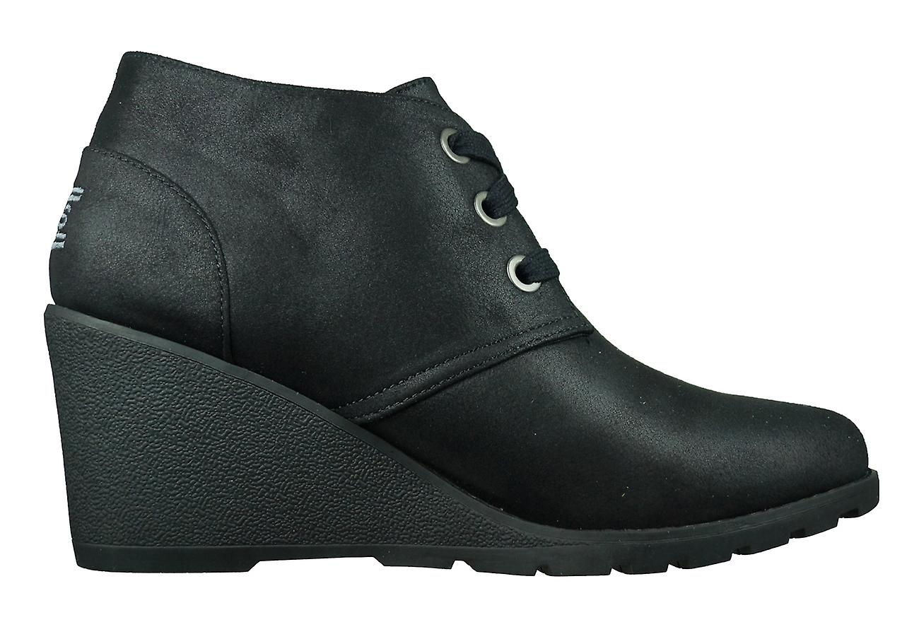 Skechers Bobs Tumble Weed Goin West Womens Wedge Boots - Black