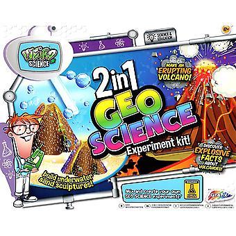 Grafix 2 in 1 Geo wetenschap Magic Sand & vulkaan Experiment Childrens educatieve Kit