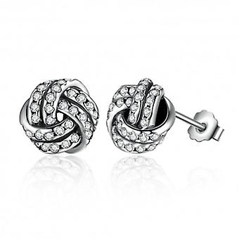 Silver Earrings Knot - 6505