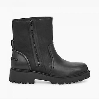 UGG Polk Ladies Leather Ankle Boots Black