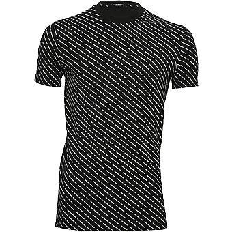 DSquared2 Repeat Logo Print Crew-Neck T-Shirt, Black